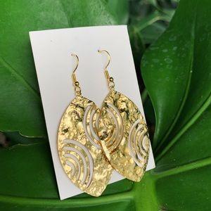 Gold Almond Shape Earrings